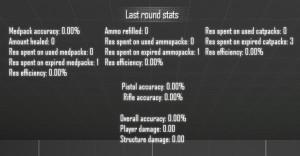 First stats UI
